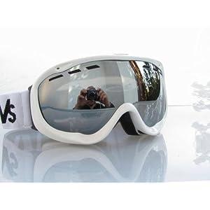 RAVS DAMEN – FRAUEN SKI ALPIN SKIBRILLE SNOWBOARDBRILLE – goggle – STRONG SILVER FLASH LENS!HELMKOMPATIBEL