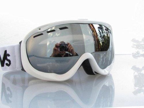 RAVS DAMEN - FRAUEN SKI ALPIN SKIBRILLE SNOWBOARDBRILLE - goggle - STRONG SILVER FLASH LENS!HELMKOMPATIBEL