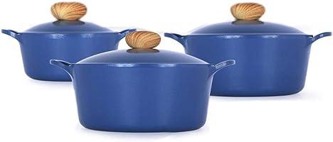 Manal Alalem Kitchen 06 Piece Retro Cookware Light Blue Set