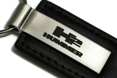 hummer-h2-cuir-noir-authentique-porte-cles-logo-porte-cle-avec-dragonne-et-porte-cles