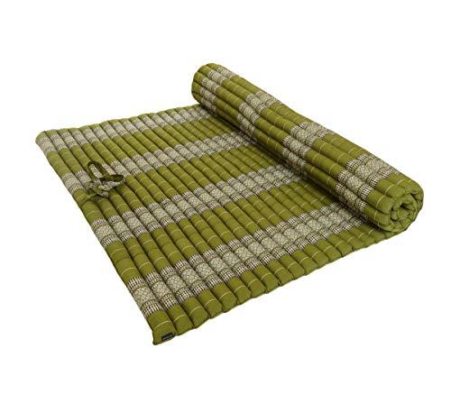 Collumino®® ® ® ® ® ® ® Tradizionale Tailandese kapok Meditazione XXL Roll-up Materasso per Yoga Massaggi o Relax Green