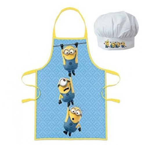 various colors 50f2a 471ff Cattivissimo me Minions Little chef grembiule e cappello da ...