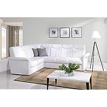 Sofá de la esquina Siena Conjunto de muebles para salón con Función cama Sofá esquinero sofá 01255
