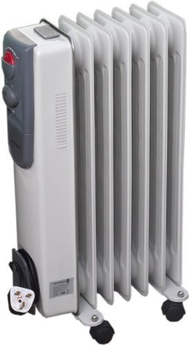 7 Fin 1500W Portable Electric Oil Filled Radiator Electrical Caravan Heater 240V