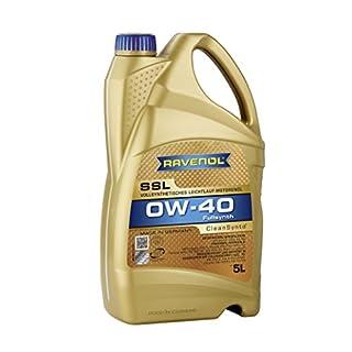RAVENOL SSL SAE 0W-40 / 0W40 Vollsynthetisches Motoröl (5 Liter)