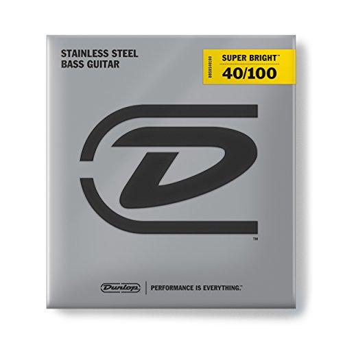 Dunlop dbsbs40120Super Hell Bass-Saiten, Edelstahl, leicht.040-.120, 5Saiten/Set 4 Saiten Leicht (Set Bass Guitar 4-string)
