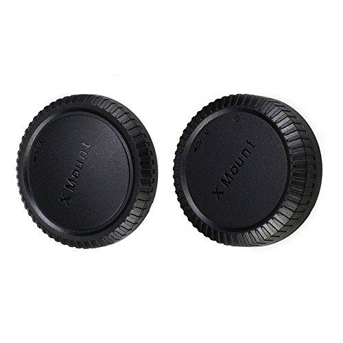 JJC Lens Posteriore Cap + Tappo Corpo per Fotocamere Fujifilm X e Obiettivo X Montate (1 Set)