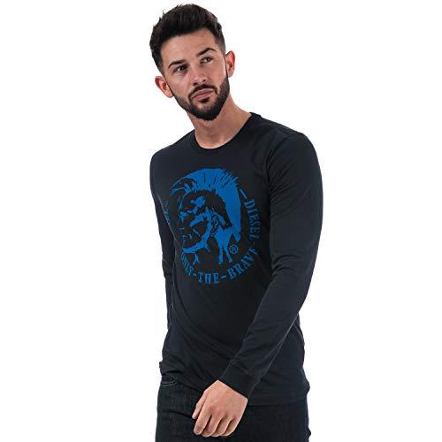 Diesel T-Shirt Langarm Herren Small Blau