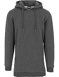 Urban Classics Herren Sweatshirt Kapuzenpulli Long Side Zipped Hoody