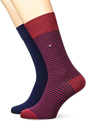 Tommy Hilfiger Mens Small Stripe Fashion Sock (2 Pair Pack)