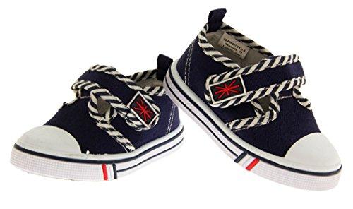 De Fonseca Salomés Garçons Toile T-bar Giancio 2 Chaussures légères velcro
