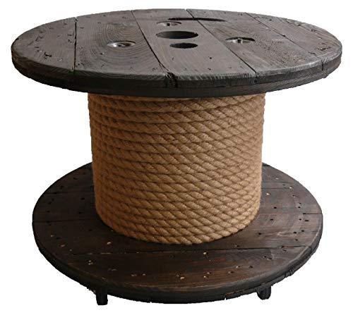 netbote24 Deko Tisch Beistelltisch Holztrommel Kabeltrommel Rondel Vintage Shabby massiv