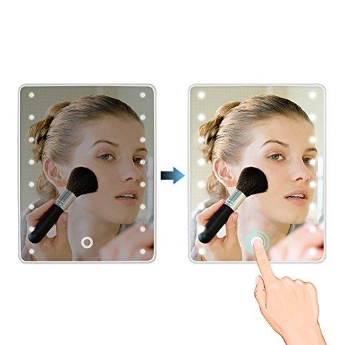 Wawoo Make-up-Spiegel, LED Beleuchtung, Dimmbar durch Touch-Schalter - 3