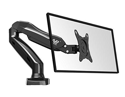 Monitor-Tischhalter-F80-Fuer-Bildschirm-Monitor-17-27-360-drehbar-schwankbar-hoehe-stellbar