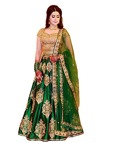 Red Lion Enterprise Women's Latest Design_Semi Stitched Silk Anarkali_Party Wear Crop top_ Gown for women all types of function(Free size)