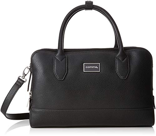 comma Damen Pure Elegance Handbag Shz Handgelenkstasche, Schwarz (Black), 13x20x32 cm
