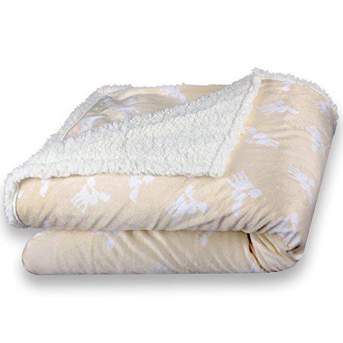 CelinaTex Fantasia Kuscheldecke 150x200 Rudy creme weiß beige Sherpa Lammfell Optik Sofadecke...