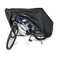 Waterproof Bike Cover Heavy Duty Oxford Bicycle Cover with Double stitching & Heat Sealed Seams, Protection from UV Rain Snow Dust for Mountain Road Electric Bike Hybrid Outdoor Storage