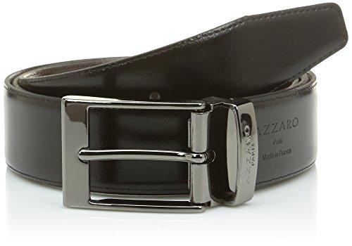 Azzaro Herren Gürtel Gr. 110cm, Schwarz - Schwarz (Schwarz/Braun) (Azzaro Für Männer)
