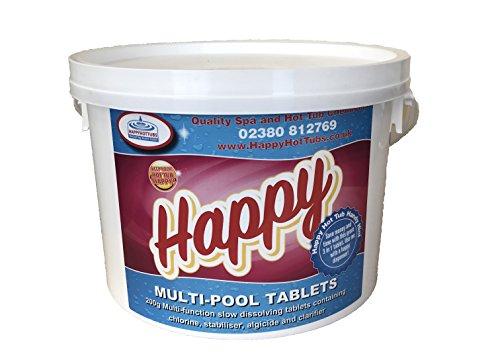 2kg Quality Multifunctional Large Chlorine Tablets 200g SWIMMING POOL Bestway