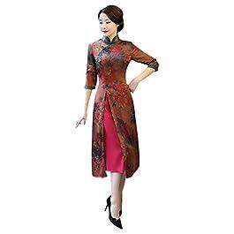 859af15cbc1e Xinvision Cheongsam Cinese Donne Qipao – Abito Vintage Elegante Floreale  Vestito ...