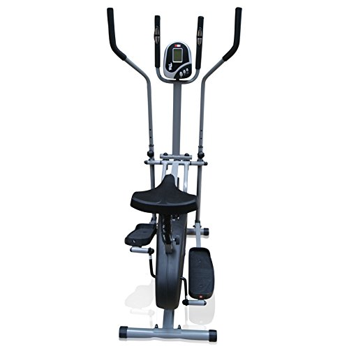 4137Gosj ML. SS500  - Pro XS Sports 2-in1 Elliptical Cross Trainer Exercise Bike-Fitness Cardio Weightloss Workout Machine-With Seat + Pulse Heart Rate Sensors