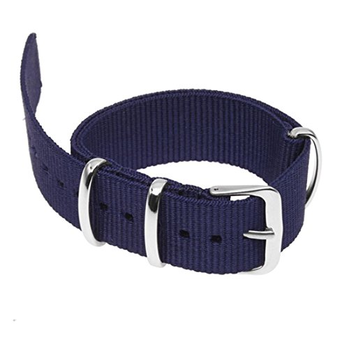 SODIALR 18mm Banda reloj nylon Correa pulsera cordon