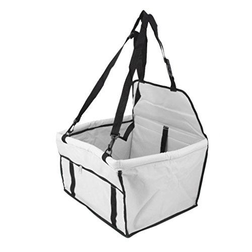 Imported Folding Pet Dog Travel Booster Bag Car Seat Carrier Safety Belt Cover Grey