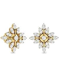PC Jeweller The Muniba 18KT Yellow Gold & Diamond Earring