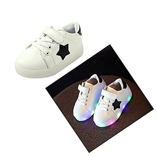 LED Schuhe helle Schuhe, Stillshine - Kinder Jungen-Mädchen-reizende LED helle Schuh-Turnschuhe Halloween-Weihnachtsgeschenk (25, Weiß)