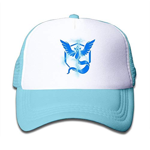 6be39203b RAINNY Cap Hat Youth Children Kids Golf Pokemon Go Blue Team Baseball Cap  Hat Snapback Black SkyBlue
