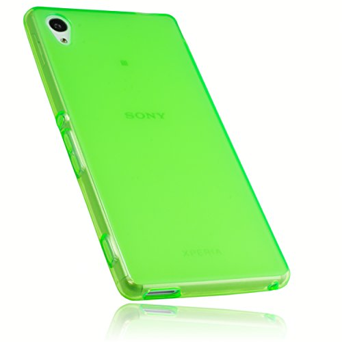 mumbi Schutzhülle Sony Xperia M4 Aqua Hülle transparent grün