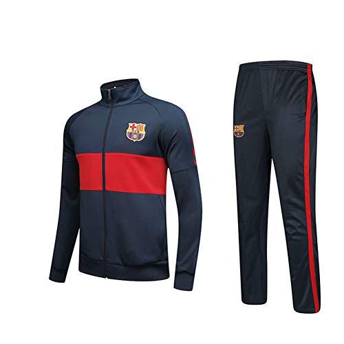 HS-HCF.HW Fußball-Uniform Set Fútbol Club Barcelona 19-20 Kinder Herbst und Winter Langarm-Mantel-Hemd Sport Reiten Jogginghose,24110~125 -
