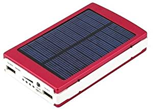 Reliable 18000 mAh High Performance Solar Power Bank with 20 led Light- Black + Morelife London Smart Car Charger with USB Cable - 2+1 Amp Output