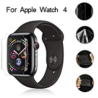 ‏‪Full Coverage Hydrogel Transparent Screen Protection Film For Apple Watch 4 40mm‬‏