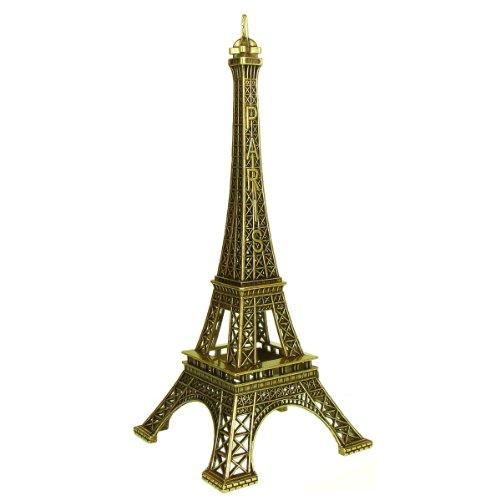 Souvenirs de France - Tour Eiffel Miniature Métal - Couleur : Bronze (50 cm)