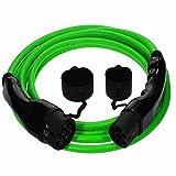 EV Cables Premium Euro Series Ladekabel Typ 2 bis Typ 2-16 amp | 7.5 Meter | 3.6kW - Grün mit Bonus Tragetasche (5 Jahre Garantie)