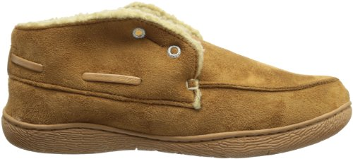 Dockers Mens Slipper Boot with Warm, Synthetic Sherpa Lining Tan