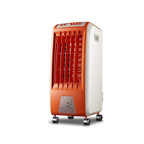 Orange Luftkühler Mobiler Klimaanlagenlüfter Klein mit 6 Wassertanks 3 Windgeschwindigkeiten 250msup3 / h