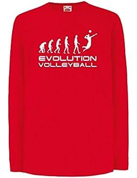 lepni.me Bambini t-Shirt con Maniche Lunghe Evolution Volley - Abbigliamento da Spiaggia, Indoor, Outdoor Vball