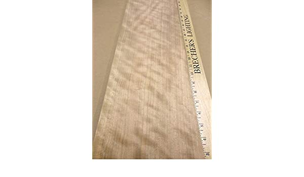 """Cherry Figured Ropey Curly Quilted wood veneer 7.5/"""" x 33/"""" raw no backing 1//42/"""""""