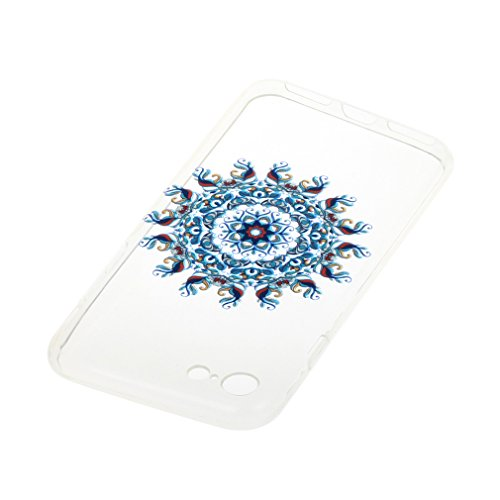SZHTSWU® Hülle für iPhone 6 Plus / 6s Plus, Ultra Slim Thin Weiche TPU Ultradünn Soft Silikon Schutzhülle Case Transparent Clear Flexible Rückschale Back Cover Etui Handy Hülle Bumper für Apple iPhone Blau Vine Blumen