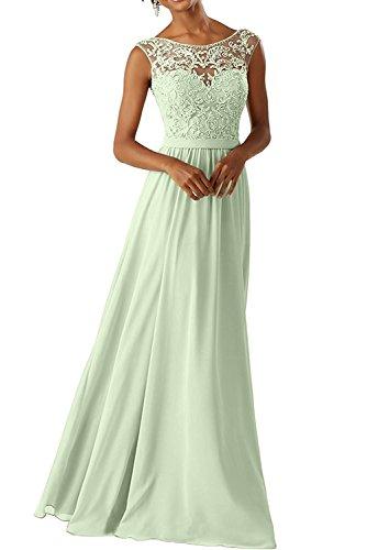 ndkleider Für Hochzeits Elegant Appliques Ballkleid Lang Cocktailkleider(Minze,42) (Handgefertigtes Cinderella Kleid)