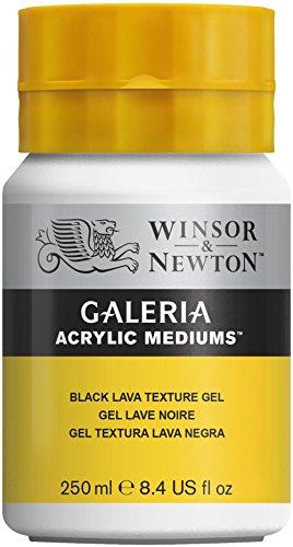 Winsor & Newton 3040812 Galeria Strukturgel Schwarze Lava, 250 ml Topf, Strukturmedium mit feinen...