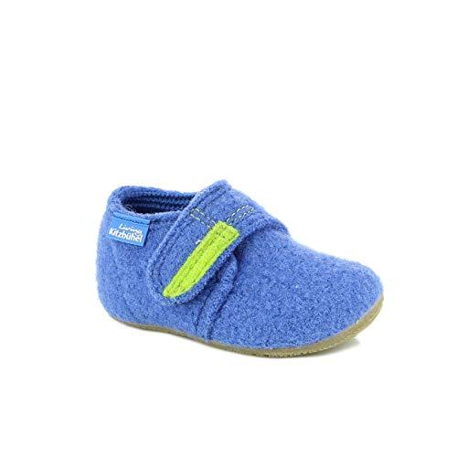 y Jungen Babyklettschuh Krabbel- & Hausschuhe, Blau (victoria blue 558), 21 EU ()