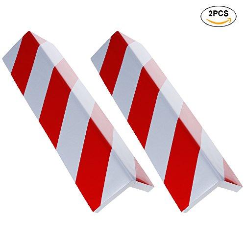 Rovtop-2-unidades-4015-Paragolpes-Protector-para-La-Puerta-de-Coche-Columnas-Parking-protector-puerta-garaje-Esquina-Parking-Adhesivo-Al-Apagar-ROJOBLANCO