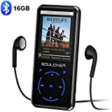 MP3 Player, 16GB MP3 Players with Bluetooth 4.0, Portable HiFi Lossless Sound MP3 Music Player with FM Radio Voice Recorder E-Book 2.4'' Screen, Support up to 128GB (Headphone, Sport Armband Included)
