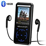 Lettore MP3,16GB Bluetooth Portatile Lossless Sound MP3 Lettore Musica, Digital Audio MP3 Player con Radio FM/Registratore Vocale, Supporto Espandibile Max Fino a 128GB (Cuffie e Bracciale Inclusi)