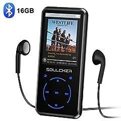Idea Regalo - Lettore MP3,16GB Bluetooth Portatile Lossless Sound MP3 Lettore Musica, Digital Audio MP3 Player con Radio FM/Registratore Vocale, Supporto Espandibile Max Fino a 128GB (Cuffie e Bracciale Inclusi)
