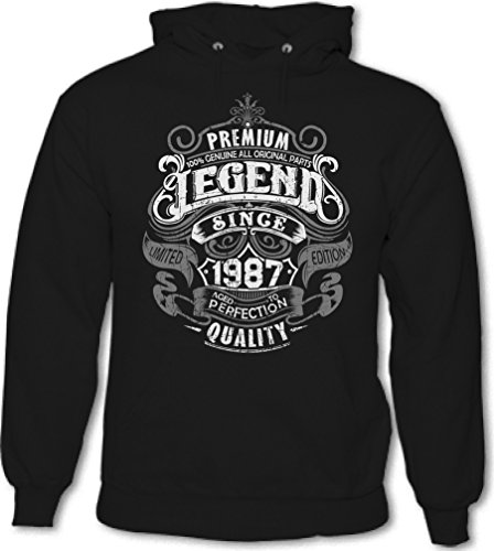 Premium Legend Since 1987 - 30th Birthday - Mens Funny Hoodie